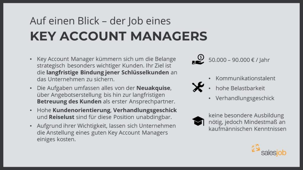 Key Account Manager Fakten