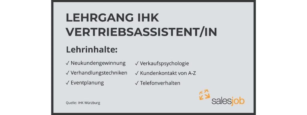 Infobox IHK Lehrgang Vertriebsassistent