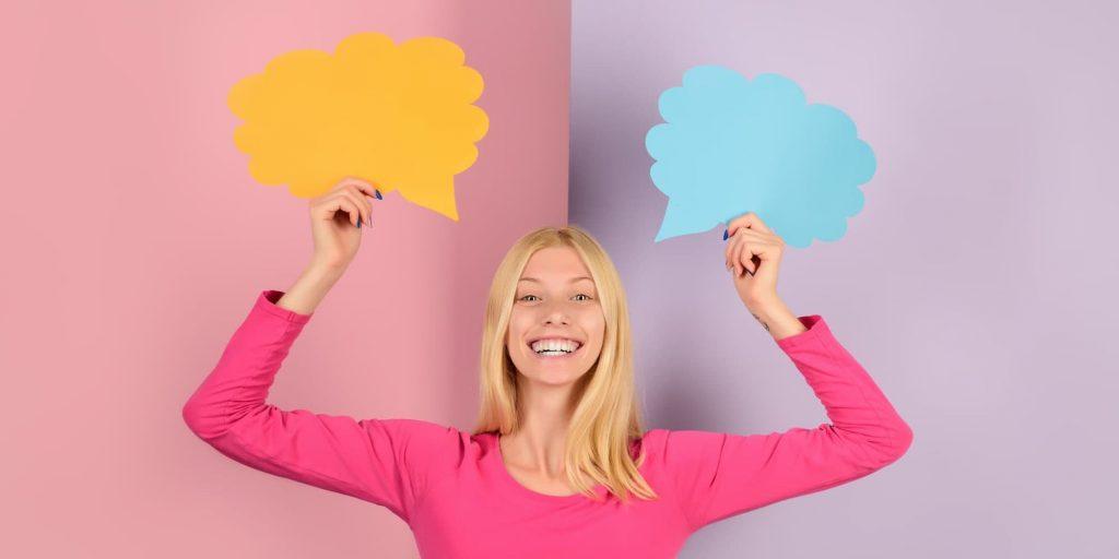 Positive Wörter Kundengespräch